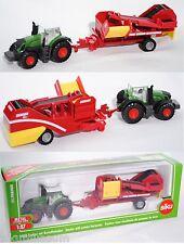 Siku Farmer 1808 Fendt 939 Vario Traktor mit Grimme Kartoffelroder 1:87 OVP