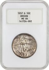 1937-D Oregon 50c NGC MS64 (OH) Low Mintage Issue - Silver Classic Commemorative