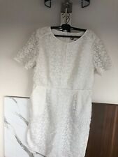 Jaeger 16 White Dress, Lace, Ideal For Holidays! Superb!