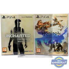 5 BOX PROTECTORS 4 Horizon Limited Uncharted Special PS4 Games 0.5m PLASTIC CASE