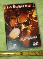 USED❤DVD•EASY ROCK DRUM BEATS•no reading•MITCHELL•enjoy•instruction•Alfred☮SHiP