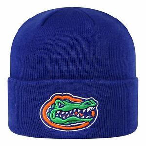 FLORIDA GATORS NCAA ROYAL BEANIE TOP OF THE WORLD SIMPLE KNIT WINTER CAP HAT NWT