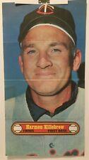 "1972 TOPPS   BASEBALL POSTER  # 20  Harmon KILLEBREW   Minnesota Twins 10"" X 18"""
