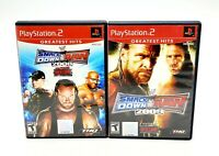 Lot of 2 WWE SmackDown vs Raw 2008 & 2009 Playstation PS2 Wrestling TESTED