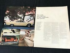 1963 two page mag ad for Lincoln -'64 Continental Worlds Most Copied Car 10x13