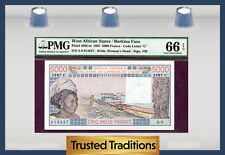 TT PK 308Cm 1987 WEST AFRICAN STATES 5000 FRANCS PMG 66 EPQ POP ONE FINEST KNOWN