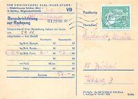 Ak VEB Wencenslas Aniversario Ciudad Karl-Marx Benachrichtigung para Factura