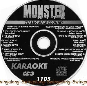 Monster Hits Karaoke CD+G vol-1105 Classic Male Country hits