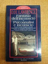 LIBRO D.H. LAWRENCE FANTASIA DELL'INCONSCIO E PSICOANALISI E INCONSCIO NEWTON