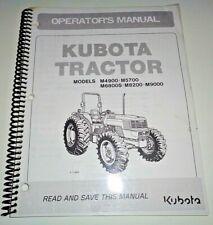 Kubota M4900 M5700 M6800S M8200 M9000 Tractor Operators Owners Manual OEM 5/07