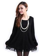 Chiffon Short Sleeve Solid Dresses for Women