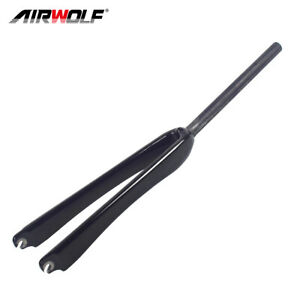 1in 25.4mm 700C Carbon Road Forks Fixed Gear Bike Fork Straight Tube 379g UD