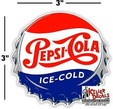 "(PC-221) 3"" PEPSI CAP  ICE COLD SODA POP VENDING MACHINE COOLER OR GUMBALL"