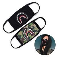 Anti-Dust Muffle Camo Shark Mouth Anti Fog Bape Mens Womens Mouth Face Mask