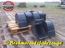 Tieflöffel 25 cm MS01 SW01  Baggerlöffel Löffel für 0 - 1,5 t Bagger