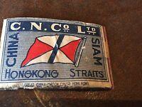 old match box top -  c.n.co ltd hong kong straits