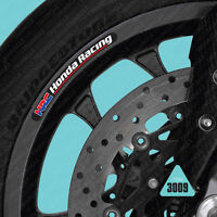 SKU3009 - 10 X Honda Racing HRC Motorcycle Wheel Rim Stickers Decals Transfers