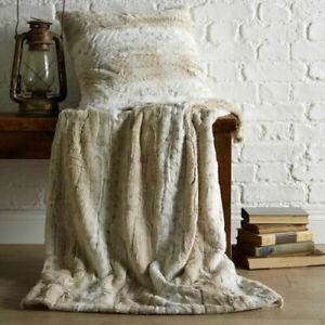 Arctic Faux Fur Blanket Sofa Bedroom Natural Snow Leopard Mink Soft Animal Throw