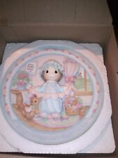 Precious Moments Girl with Hearts Sculpted Plate # 151114 Date 1995 Nib