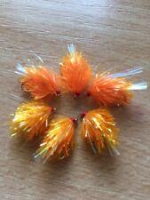 PESCA a mosca 6 Arancione Flash coda Blob Trote Mosche