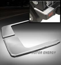 03-09 HUMMER H2 SUV REAR BUMPER CORNER COVERS TRIM GUARD ABS CHROME LEFT+RIGHT