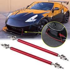 Sport Red Racing Bumper Lip Splitter Strut Rod Tie Support For Nissan 370Z GT-R
