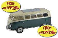VOLKSWAGEN CLASSICAL BUS COLOR GREEN SCALE 1:32 BRAND NEW  FROM WELLY DIE CAST
