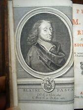 1701 PENSEES SUR LA RELIGION & SUR QUELQUES AUTRES SUJETS BY PASCAL JANSENISM ^