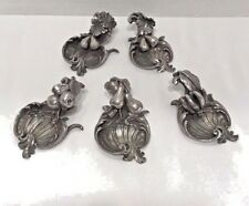 STERLING 925 SILVER PLACE CARD HOLDERS SALT HOLDER SET OF 5 STAMPED GORGEOUS