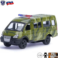 Diecast Vehicles Scale 1:50 Van GAZ 2705 GAZelle Russian Military Toy Cars