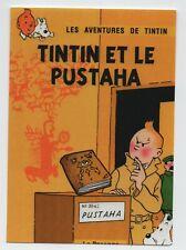 Carte TINTIN PASTICHE ETAT NEUF carte 42 la pin up et l/'hydravion Tintin