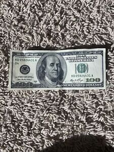 Series 2006 A ~ US One Hundred Dollar Bill $100 ~ New York ~ KD05824431A