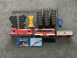 PLAYMOBIL TRAINS AND TRAIN TRACK 4010