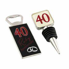 40th Ruby Anniversary Gift - Bottle Stop/Opener Set WG56240