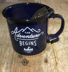 Wild & Wolf The Adventure Begins Enamel Mug BNWT  Hardware Camping