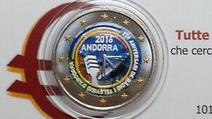 2 euro 2016 Andorra color farbe kleur cor Andorre андорра ràdio televisiò TV