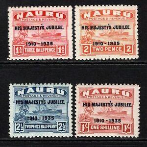 Nauru 1935 KGV Silver Jubilee Set SG40-43 M/Mint