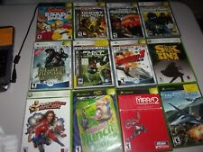 XBOX LOT OF 12 ASSORTED GAMES W/CASE