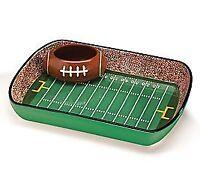 Football Stadium Chip And Dip Sports Serving Set