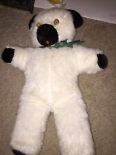SOFT AND SILKY  WHITE TEDDY BEAR - Hand Made CORK EYES NON JOINTED 15""