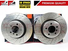 FOR BMW 3 4 SERIES F30 F34 F32 F36 FRONT AXLE DIMPLED GROOVED BRAKE DISCS 370mm