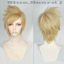 FF15 Final Fantasy XV Prompto Argentum Short Linen Blonde Cosplay Hair Wig + Cap