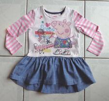 Girl's Gorgeous Pink, Cream & Denim Peppa Pig Dress - Size 1