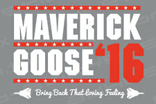 TOP GUN Maverick and Goose '16 Vinyl Decal Sticker