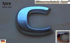 1 pcs Auto KFZ Abzeichen Buchstabe Chrom 1x C Ersatz für Orig.Modell Bezeichnung