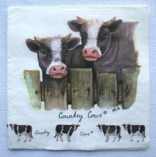2 serviettes en papier Napkins 33 cm VACHES