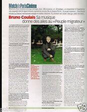 Coupure de Presse Clipping 2002 (1 page) Bruno Coulais