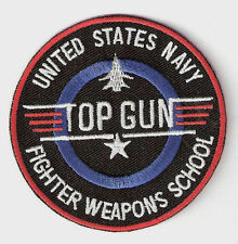 TOP GUN ░ Quality  Iron On Patch Badge US NAVY FIGHTER SCHOOL  ░ TOM CRUISE