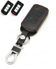 Leather Case Cover Holder For Mitsubishi Outlander Lancer ASX Pajero Smart Key