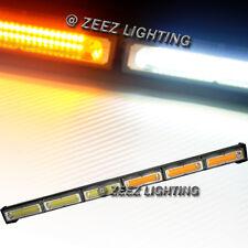 60W Amber&White COB LED Traffic Advisor Emergency Warning Strobe Light Bar C96